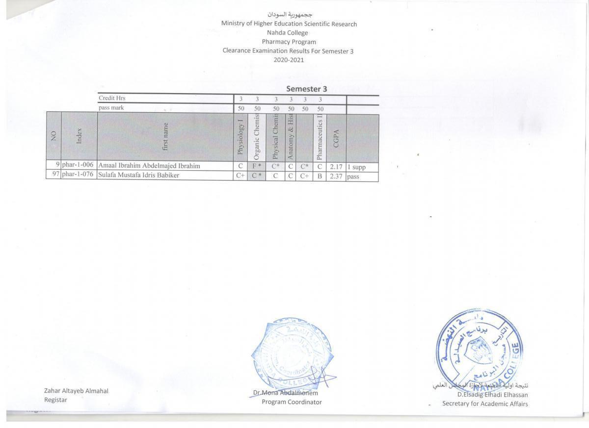 clearance batch(2) sem(3)